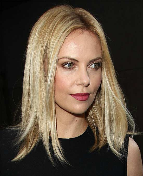 Charlize theron Long Bob Hairstyles