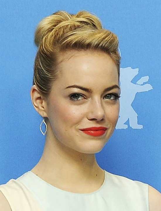 Emma Stone Chic Top Bun