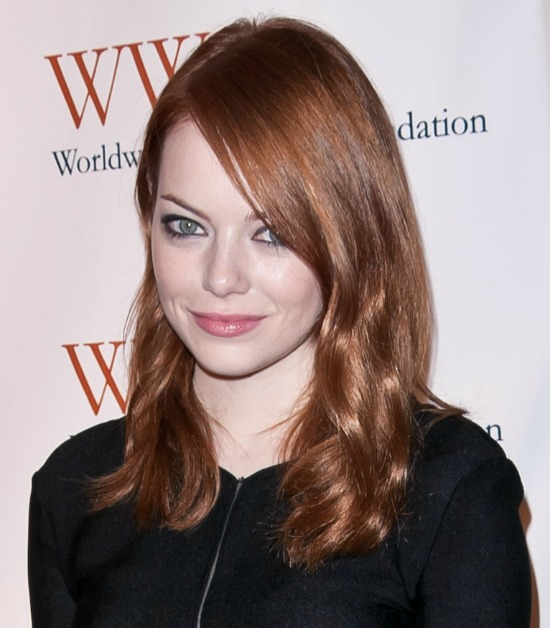 Emma Stone Dark Brown Red Hair