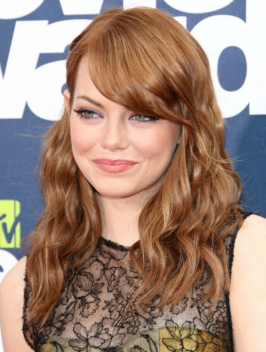 Emma Stone Half Up Half Down Hairstyle