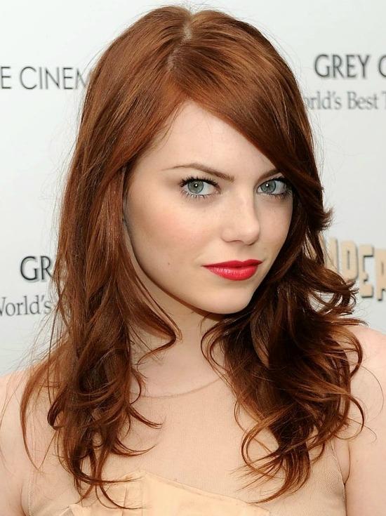 Emma Stone Long Layered Hairstyle
