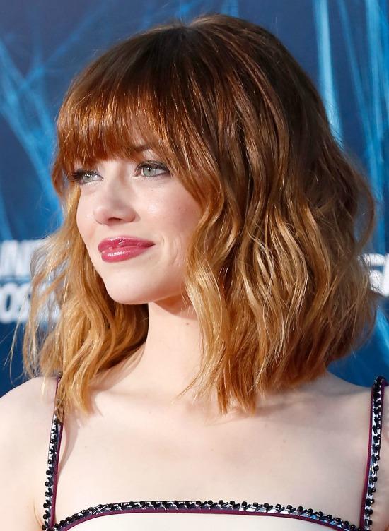 Emma Stone Shag Hairstyle