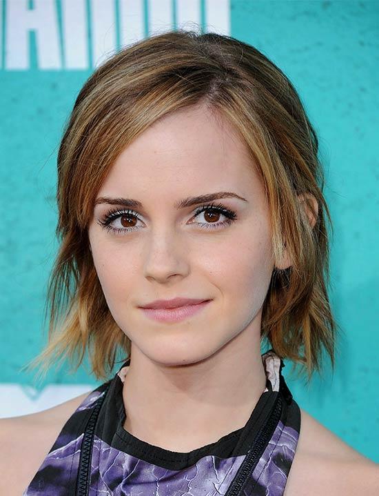 Emma Watson Medium Length Hairstyles for Thin Hair