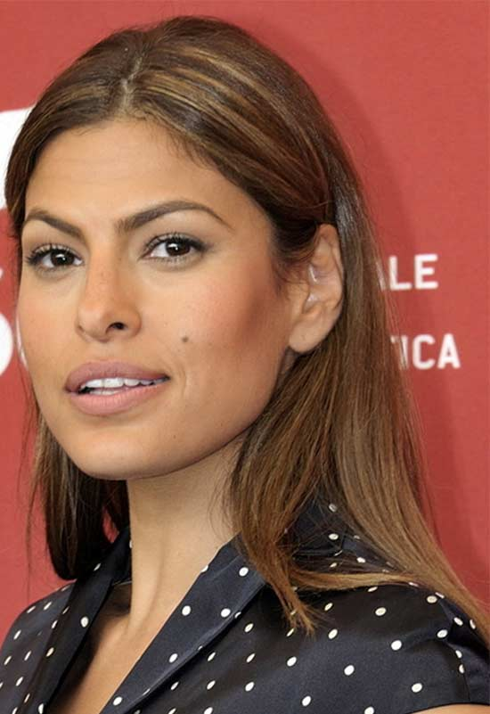 Eva Mendes Medium Blonde Hairstyles