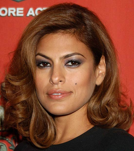 Eva Mendes Medium Curly Hairstyles