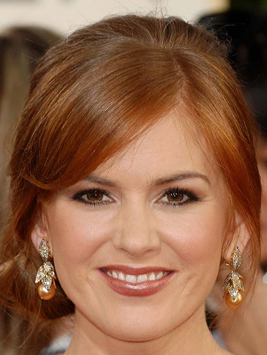 Isla Fisher Medium Hairstyles for Round Faces