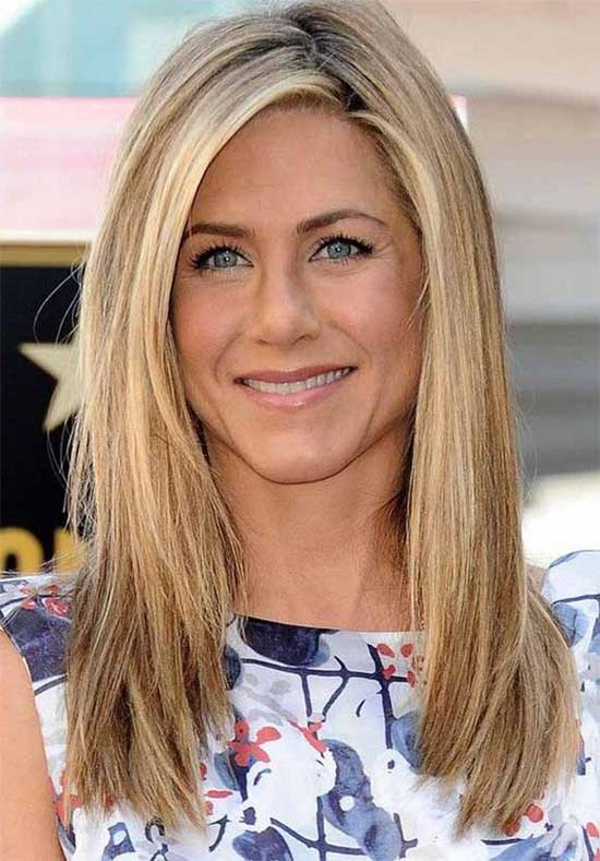 Jennifer Aniston Medium Length Haircuts for Thick Hair