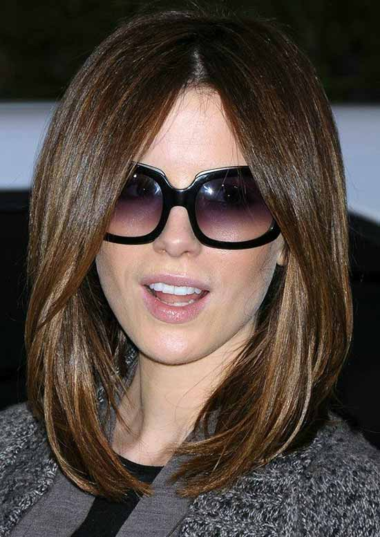 Kate Beckinsale Long Bob Hairstyles
