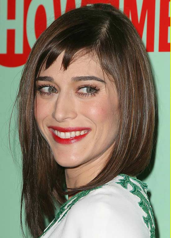 Lizzy Caplan Long Bob Hairstyles