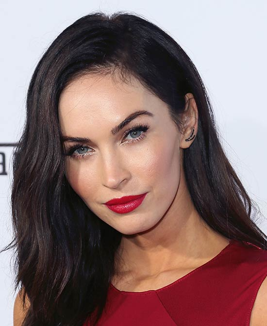 Megan Fox Medium Layered Haircuts
