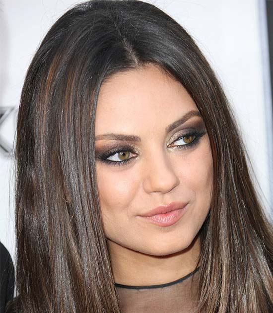 Mila Kunis Medium Hairstyles for Round Faces