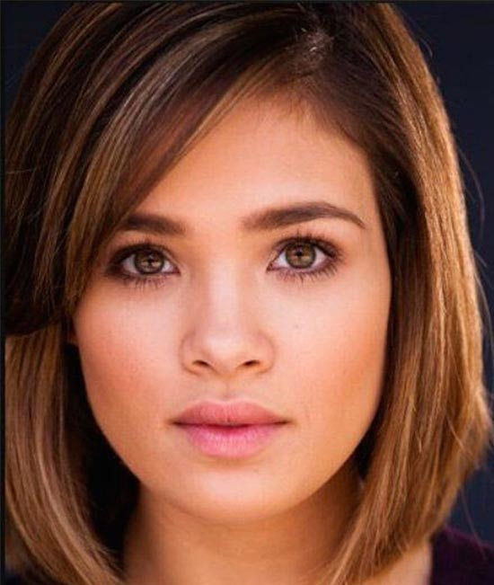 Nicole Gale Anderson Medium Hairstyles for Round Faces