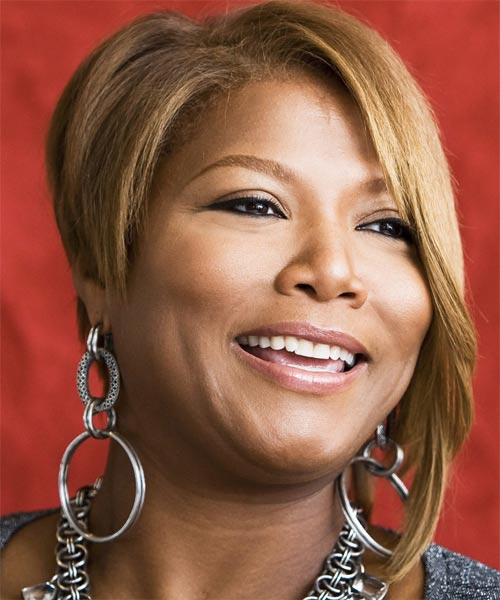 Queen Latifah Sassy Bob Haircuts for Round Faces