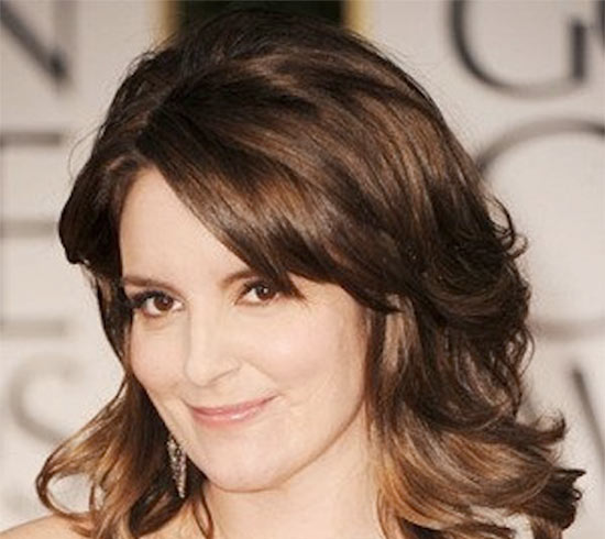 Tina Fey Medium Hairstyles for Round Faces