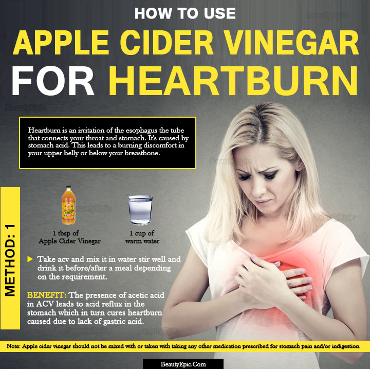 apple cider vinegar for heartburn