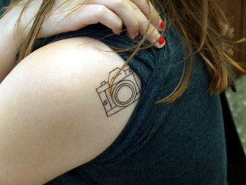 Shoulder Camera Tattoo