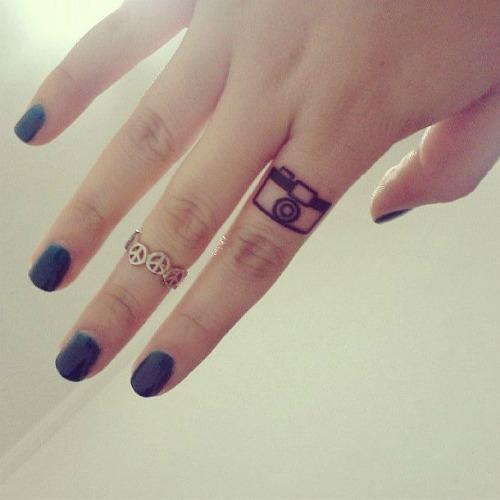 Camera Tattoo on Finger