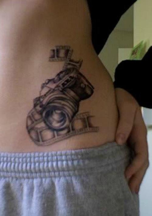 Camera Tattoo on Waist