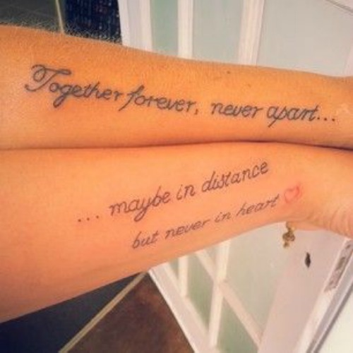 together forever couple tattoo
