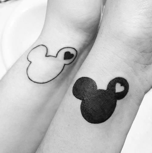 disney couple tattoo