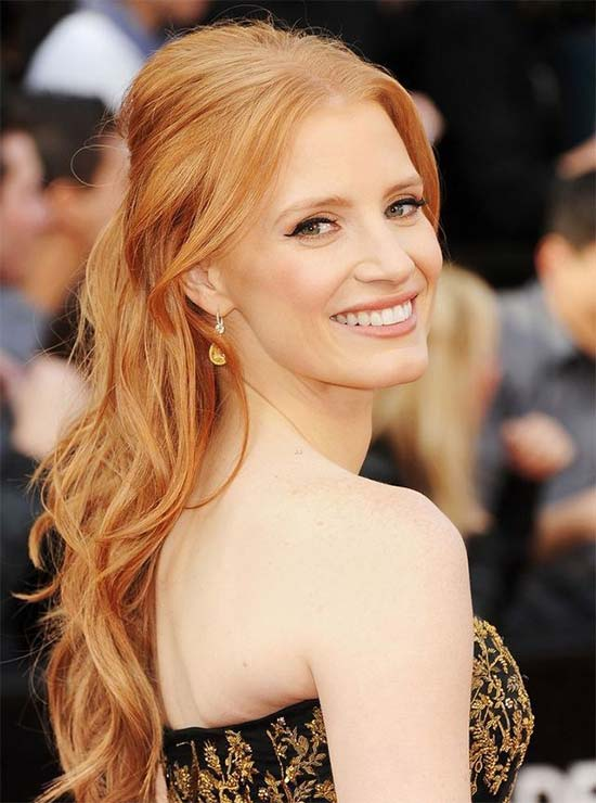Jessica Chastain RED Hair Styles