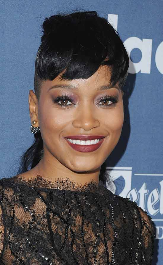 KEKE-PALMER Short Hair with Bangs