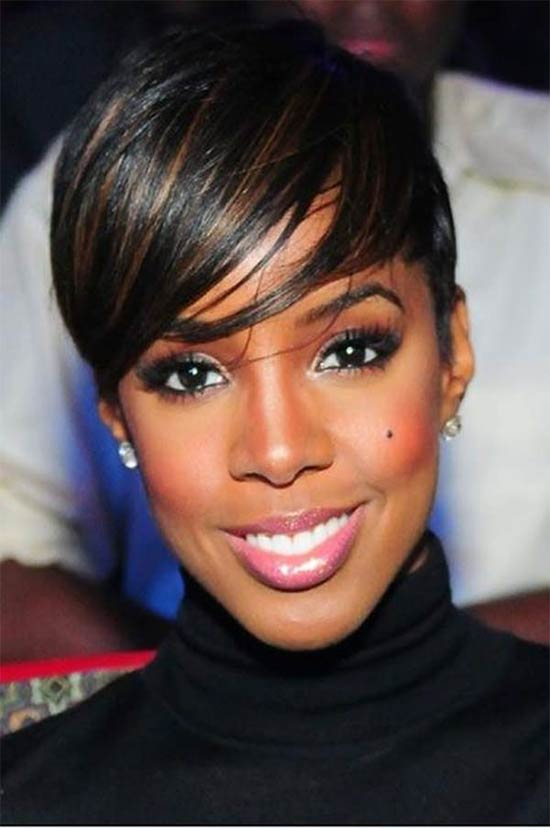 Kelly Rowland Black Women Pixie Cuts