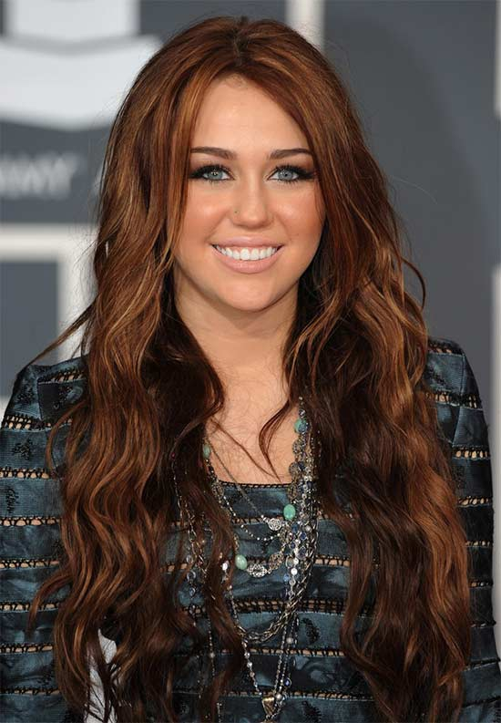 Miley Cyrus Red Curly Hair