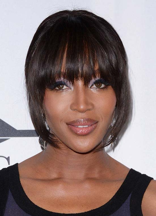 NAOMI CAMPBELL Short Hair with Bangs