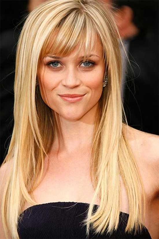 Reese Witherspoon Classy Long Haircuts With Bangs