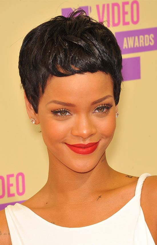 Rihanna Black Women Pixie Cuts