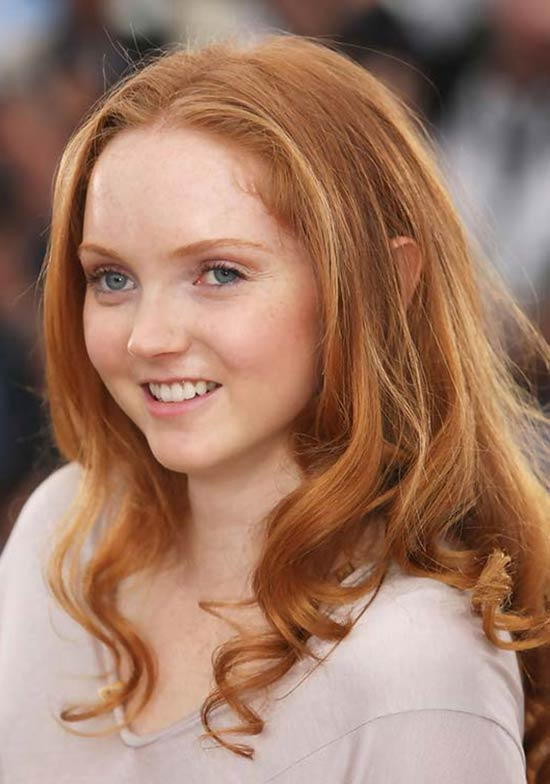 Lily Cole Blonde Haircut