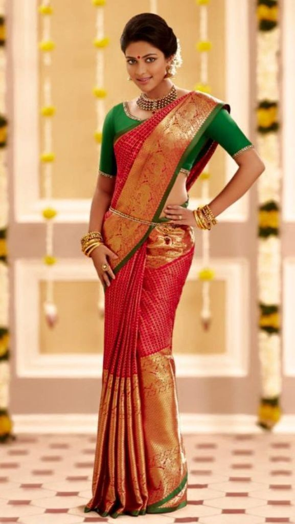 Amala Paul In kanchipuram Sarees