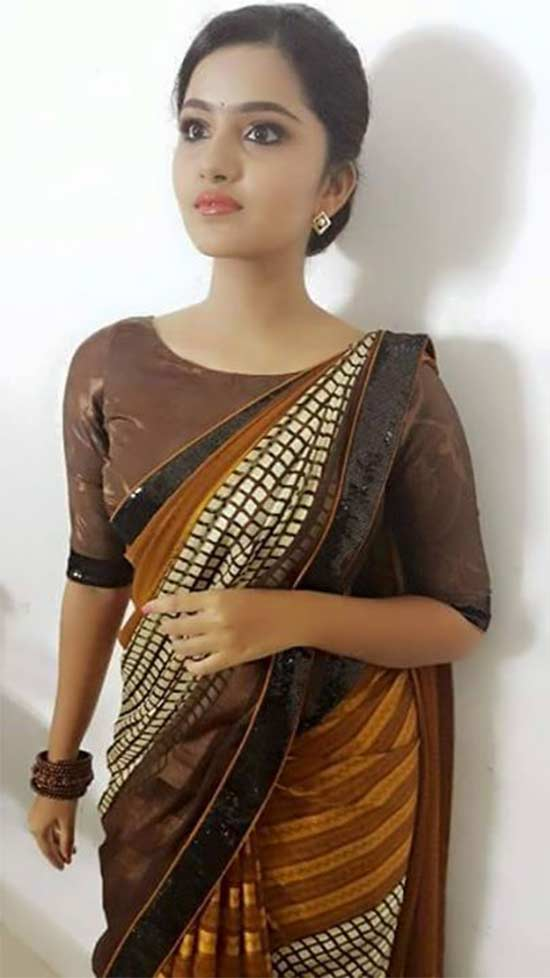 Anupama parameswaran In Multicolor Saree