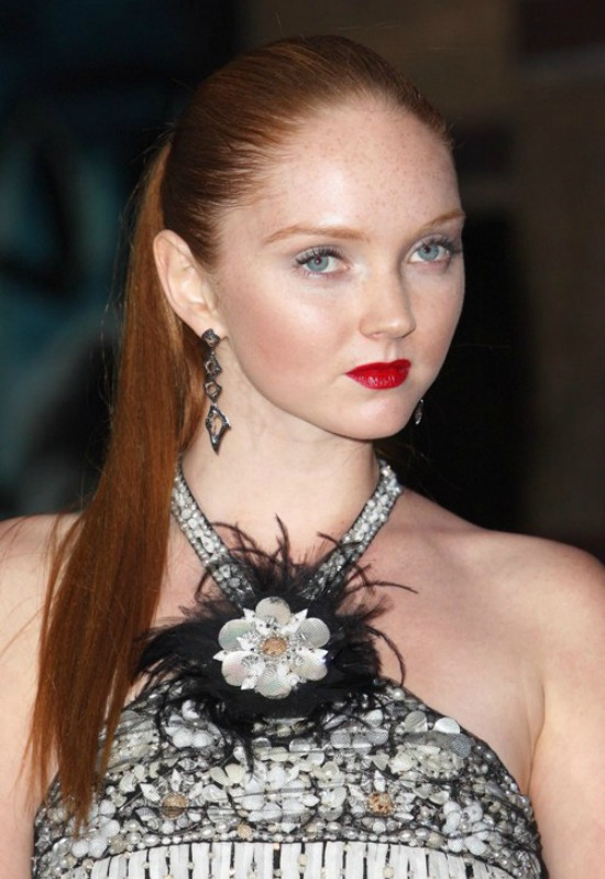 Lily Cole Ponytail