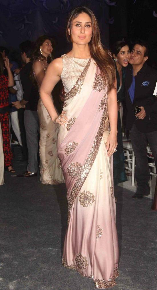 Kareena Kapoor In Sleeveless Boat Neck Blouse