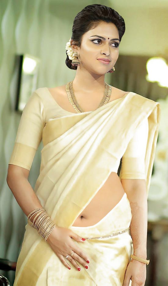 Amala paul in kerala Saree