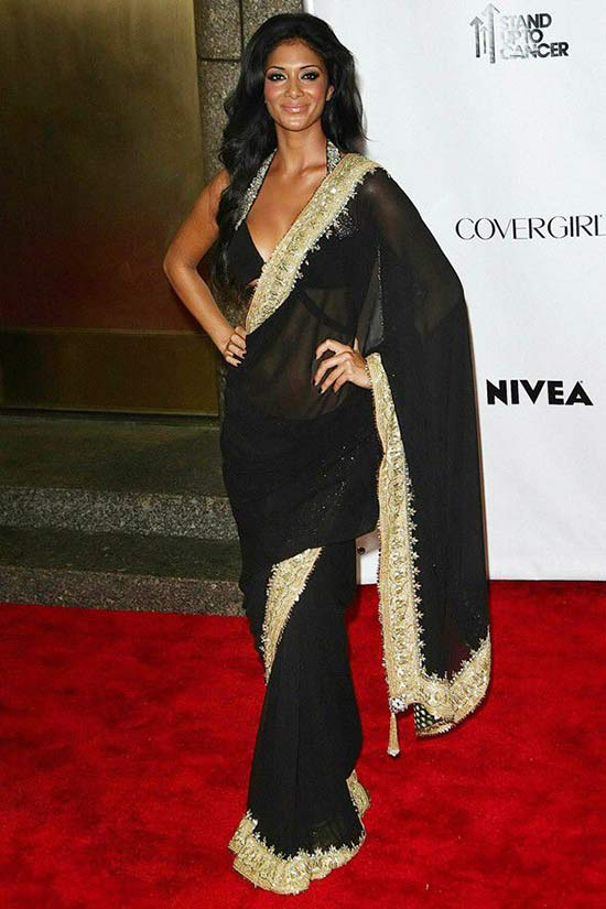 Nicole Scherzinger pulled off the black saree with absolute class