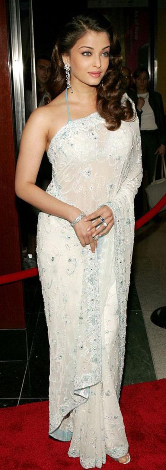 aishwarya-rai-in white saree