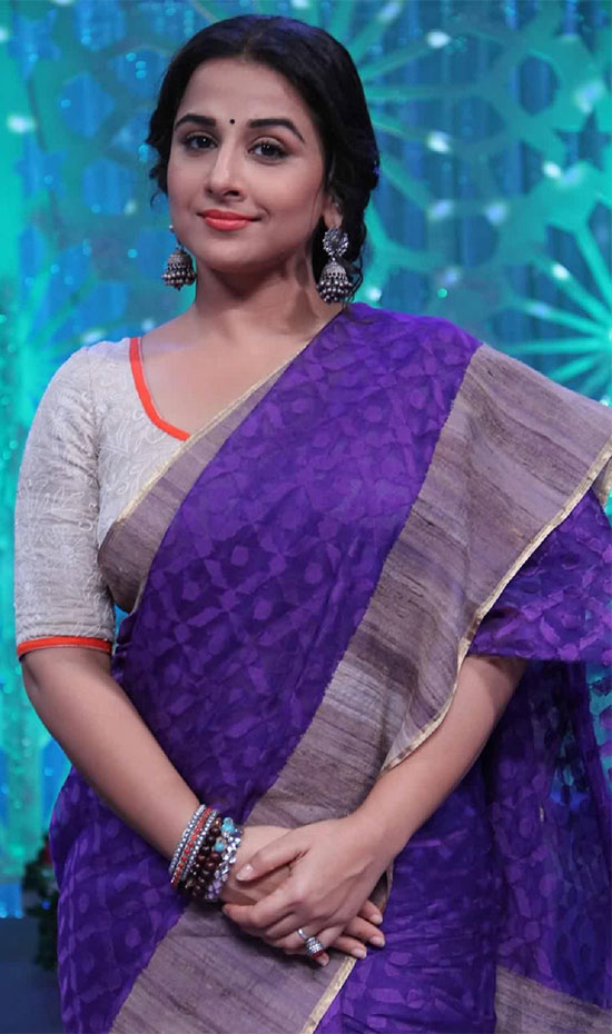 vidya-balan-in- purpul sarees