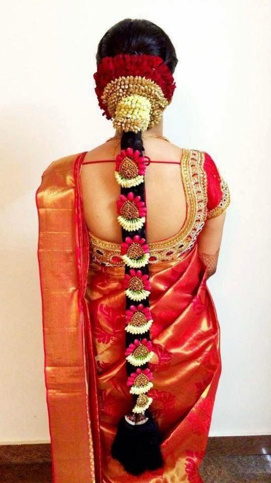 Deep U Sahpe Aari Kundan Work Red Blouse