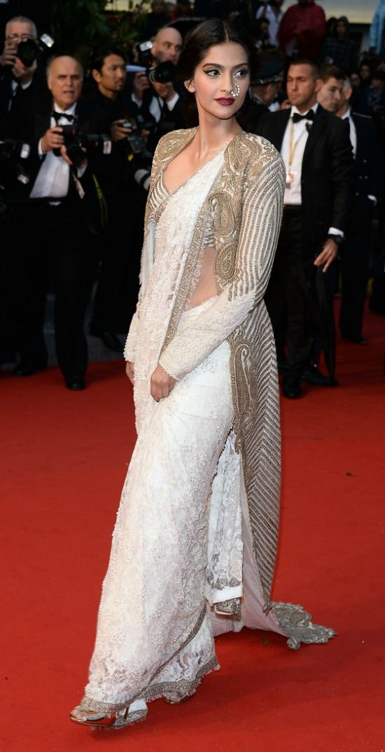 Sonam Kapoor at Cannes In Anamika Khanna Saree