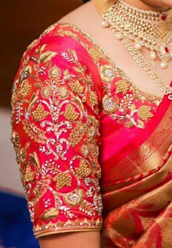 Wrap Blouse Saree Patterns