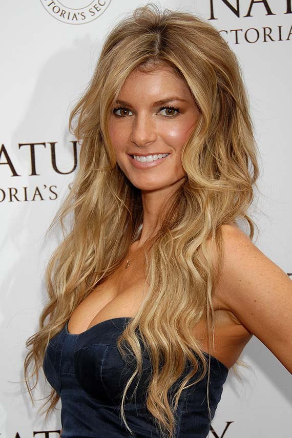 Marisa Miller Long Curly Blonde Hair