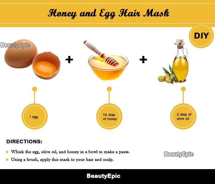 egg and honey hair mask