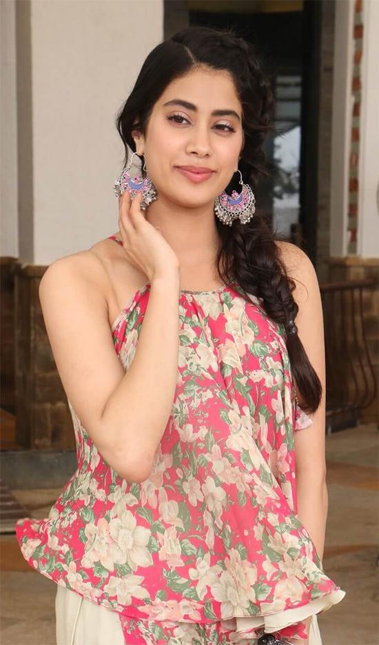 Janhvi Kapoor with Fishtail Braid