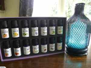 Metal Aromatherapy Diffuser + 14 Oils Gift Pack 7