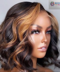 Brazilian Highlights Blonde 360 Lace Frontal Human Hair Wigs Baby Hair Eva Wig Lace frontal wig BFS Transparent Lace Wig