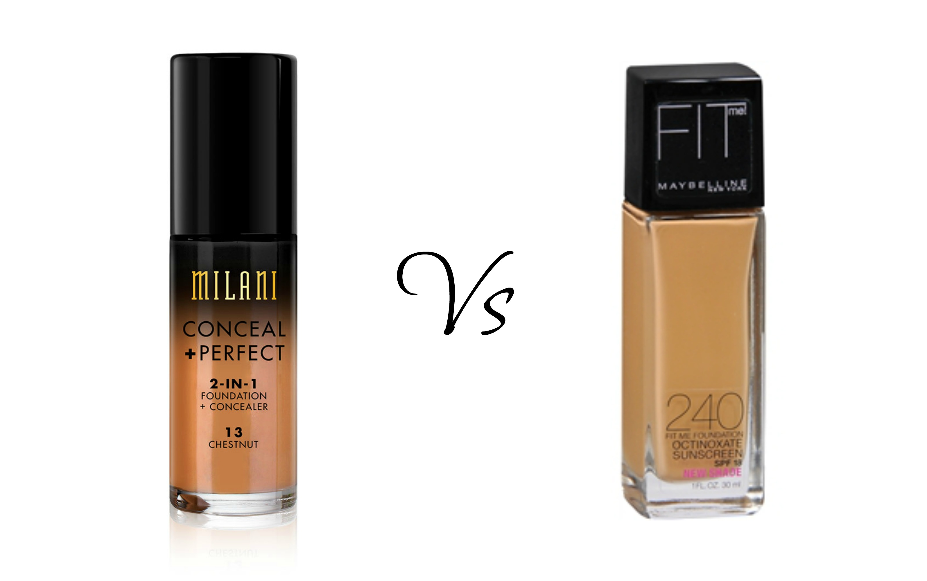 Maybelline Fit Me Matte Foundation Vs Milani Conceal 2 In