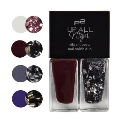 "P2 ""Up all night"" - vibrant beats nail polish duo"